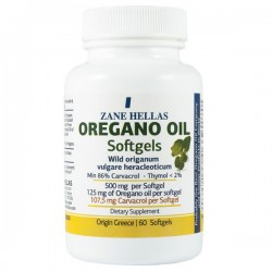 Greek Oregano Oil - 60 Softgels, 86% Carvacrol